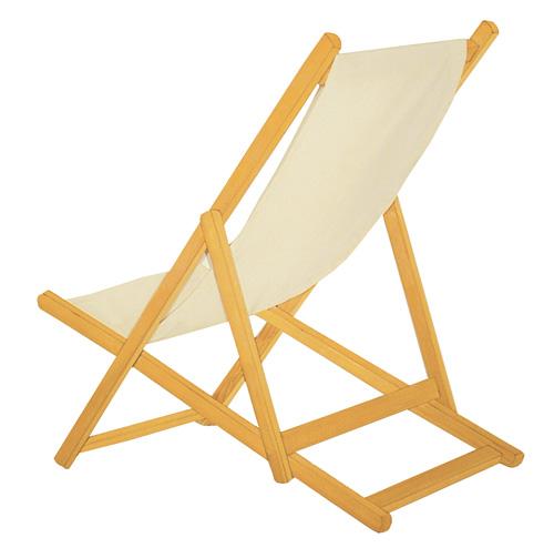 chaise longue bois toile - mes prochains voyages